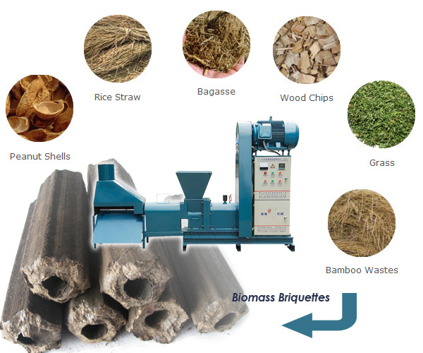 biomass material for briquette making machine