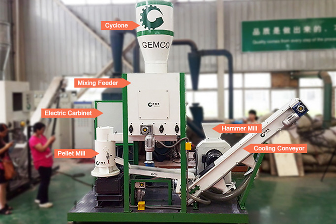outline of biomass pelletizing plant